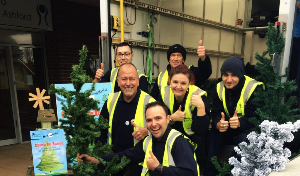 Newman Christmas Trees.Christmas Tree Recycling Pilgrims Hospices